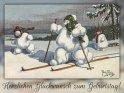 Herzlichen Glückwunsch zum Geburtstag!    Antike Postkarte mit einem Motiv von Arthur Thiele (1860-1936)    Dieses Motiv ist am 16.01.2019 neu in die Kategorie Geburtstagskarten für Wintersportler aufgenommen worden.