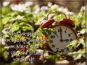 Nicht vergessen, am letzten Sonntag im März wird die Uhr eine Stunde vorgestellt.    Dieses Motiv ist am 27.03.2020 neu in die Kategorie Zeitumstellung aufgenommen worden.