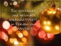 Ein glückliches und gesundes Weihnachtsfest in Frieden und Zuversicht!    Dieses Motiv finden Sie seit dem 22. Dezember 2020 in der Kategorie Advents- und Weihnachtskarten für schwere Zeiten.