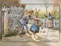 Fröhliche Ostern!  Das mit dem Abstand gab es früher auch schon, nur anders.    Antike Osterkarte mit einem Motiv von Arthur Thiele (1860-1936)