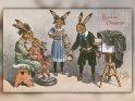 Herzliche Ostergrüße!    Antike Osterkarte mit einem Motiv von Arthur Thiele (1860-1936)