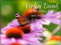 Vielen Dank  für die lieben Grüße mit den schönen Schmetterlingen!    Dieses Motiv ist am 03.08.2021 neu in die Kategorie Danke aufgenommen worden.