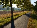 Fulda-Radweg im Herbst