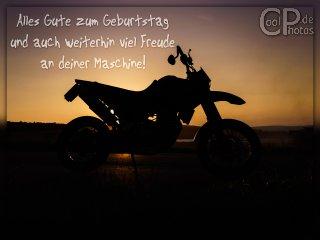 Auf motorrad frau geburtstagsgrüße BILD Logo