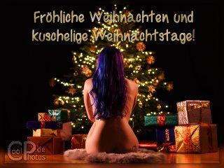 nackte girls weihnachtskarten