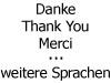 Danke (versch. Sprachen)
