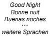 Gute Nacht (versch. Sprachen)