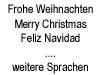 Weihnachtskarten (versch. Sprachen)